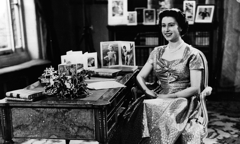 The picture used for one of the Queens first Christmas cards Photo C GETTY