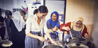 She displayed her humanitarian spirit when she created a cookbook for Grenfell Tower survivors Image GETTY