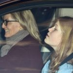 Sophie Wessex beamed as she drove daughter Lady Louise Windsor 15 to the family meal on Wednesday