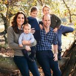 The Cambridge family pictured in their Christmas card photo Image GETTY