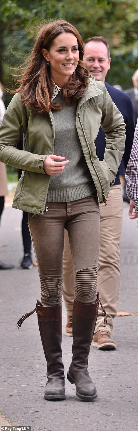 The Duchess of Cambridge is no stranger to wearing jeans on royal engagements and wore a skinny pair from Zara for her return to royal duties in October