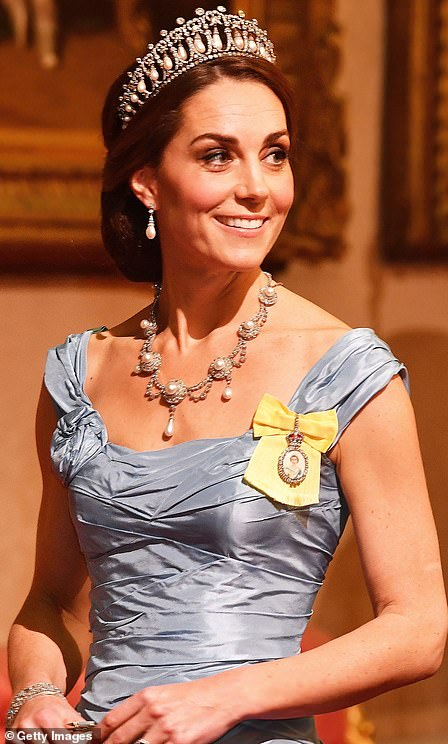 The Duchess of Cambridge most recently wore the Lovers Knot Tiara to the state banquet held in honour of Queen Maxima