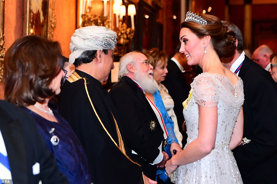 The Duchess of Cambridge who has already appeared at an official engagement today looked stunning at the royal reception
