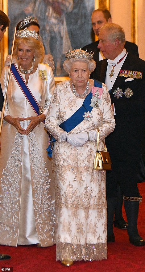 Kate wore the tiara for the annual Diplomatic Reception at Buckingham Palace in December in 2015