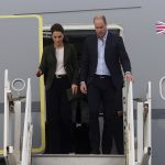 The Duke and Duchess of Cambridge arrive to attend a Christmas party for the families of RAF Akrotiri service personnel