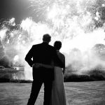The Duke and Duchess of Sussex shared the new photo from their evening wedding reception showing them hand in hand as fireworks