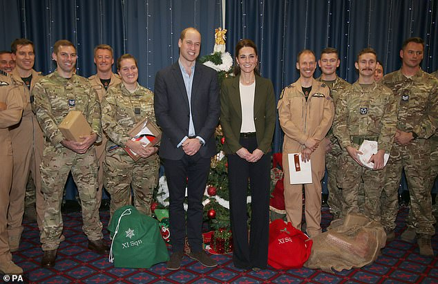 The Duke of Cambridge 35 made the joke as he and Kate were posing for pictures with military personnel at RAF Akrotiri above