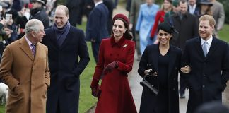 The Fab Four appear to share a joke with Prince Charles as they make their way to church They tried to quash rumours of a rift with the united front on Christmas morning