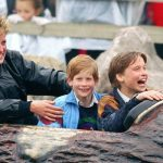 The Princess of Wales would also take her sons out in public Image Getty