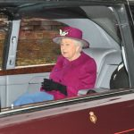 The Queen arriving at church Photo C GETTY IMAGES