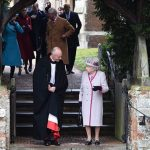 The Queen departs the Royal Familys traditional Christmas Day mass at St Mary Magdalene Church Image Getty Images