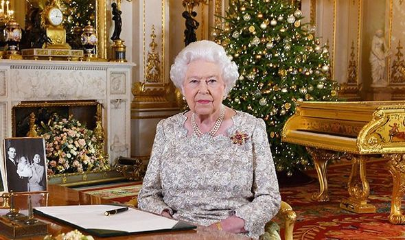 The Queen gives her annual Christmas speech in the Drawing Room at Buckingham Palace Image PA