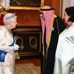 The Queen looked animated as she spoke to the ambassador of Kuwait one of the roughly 1 000 guests invited to the reception