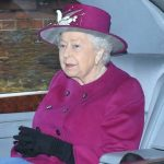 The Queen looked festive in a dark pink outfit Image Joe Giddens PA