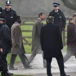 The Queen was accompanied by some members of the Royal Family Image Joe GiddensPA