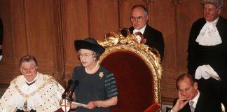 The Queens annus horribilis speech in 1992 Image Getty