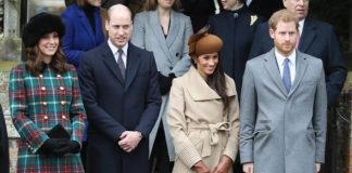 The Royal Family outside church on Christmas Day 2017 Image GETTY