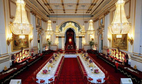 The State Ballroom at Buckingham Palace built by Queen Victoria Image Getty