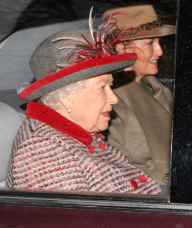 The royals including the Queen and Sophie Wessex head to Sunday service before we next see them on Christmas Day Photo C GETTY IMAGES
