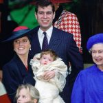 The Yorks with the Queen at Eugenies christening in 1990 Image Getty