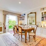 The flat has a large dining room for entertaining Image RIGHT MOVE