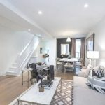 The lounge area which has since been redecorated was where Meghan would relax after a days work Image Freeman Real Estate Ltd Brokerage