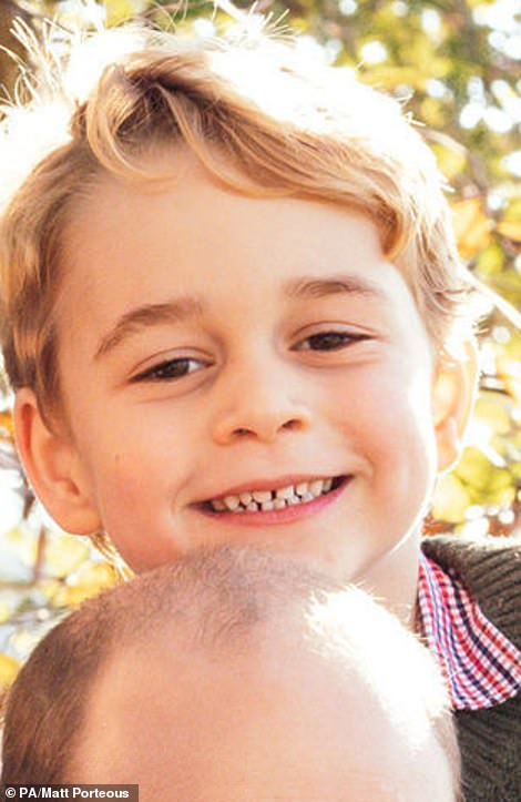 The photograph released by Kensington Palace showed Prince George