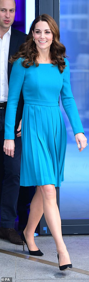 The recycled blue dress Kate wore to BBC Broadcasting House in London earlier this month ticked three important regal style boxes a bright colour smart tailoring and recycling