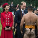 The royal couple didnt blink an eye while meeting a Maori warrior in New Zealand Photo C GETTY