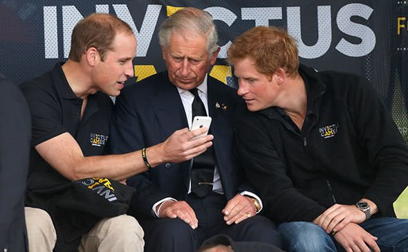 Prince Harry has been pictured with an iPhone Image GETTY