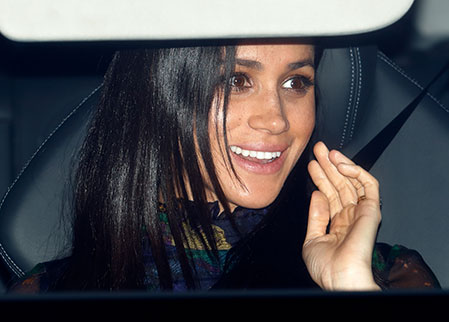 There was most likely a lot of talk about the royal baby around the dinner table as Meghan Photo C GETTY
