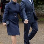 Zara and Mike Tindall leaving St Mary Magdalene Church in Norfolk Image GETTY