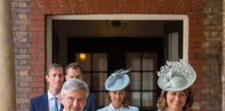 he Middletons at Prince Louis' christening in July Photo Getty