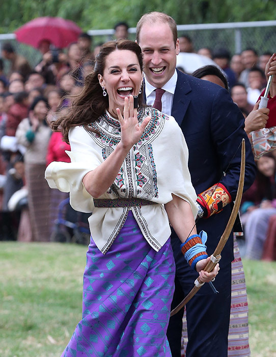 Prince William and Kate laughing