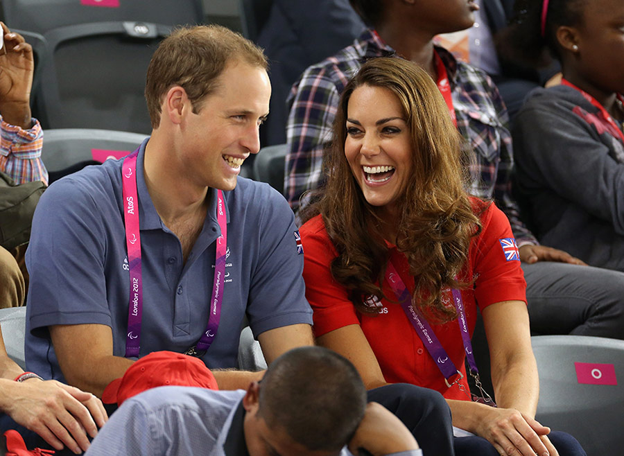 William and Kate sharing a funny moment