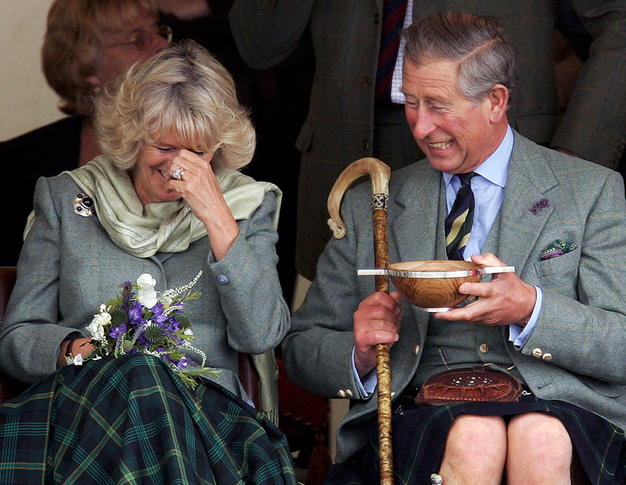 Charles and Camilla giggling