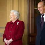 prince philip the queen laughing a
