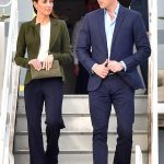 rince William and Kate smile as they arrive for their official visit to RAF Akrotiri in Cyprus this afternoon