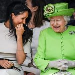 the queen meghan laughing a