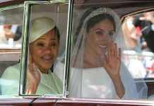 Doria Ragland was the only member of Meghans family to attend her royal wedding Image GETTY