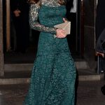 Duchess Kate in a beautiful bottle green Temperley dress Photo C GETTY IMAGES