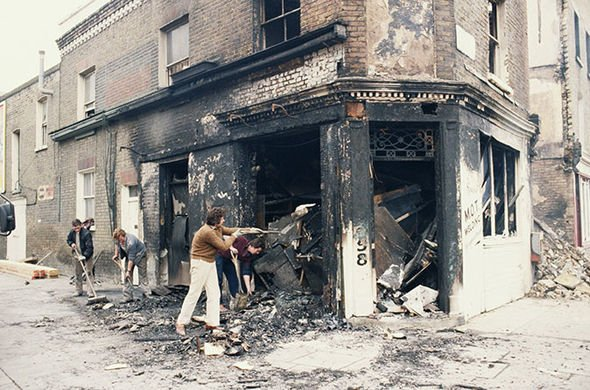 England had become embroiled in serious riots across many cities caused by a distrust of police Image Getty