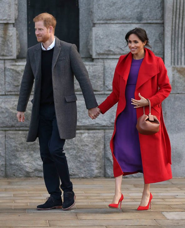 Harry and Meghan have a day of engagements in Birkenhead Image EPA