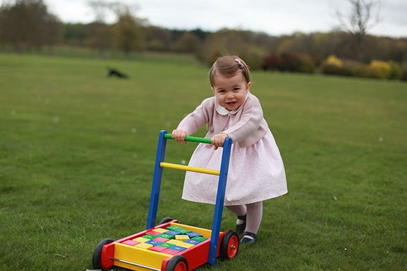 Inside Anmer Hall Kate Middleton and Prince William shared a snap of their daughter in the garden Image GETTY