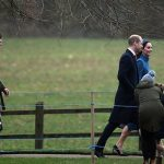 It has become a tradition for the Duke and Duchess to attend the first Sunday Service of the year Image PA