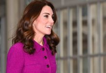 Kate Middleton recycles purple Oscar de la Renta outfit at the Royal Opera House Photo C GETTY IMAGES