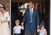 Kate and William opted to share a photo from Prince Louis christening taken at a shoot on this day Image GETTY