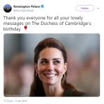 Kensington Palace thanked fans for their well wishes Photo C TWITTER