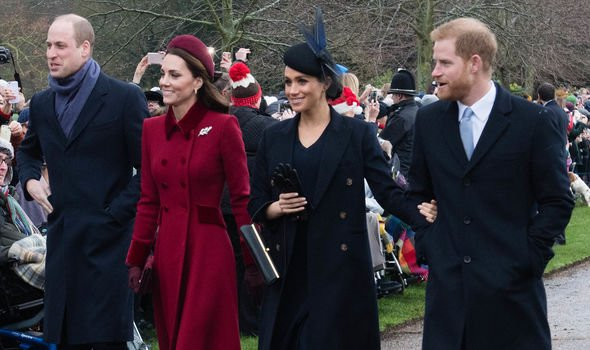 Meghan Kate William and Harry could skip Lady Gabriellas wedding Image GETTY