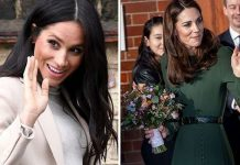 Meghan Markle and Kate face rumours of a royal rift Image GETTY